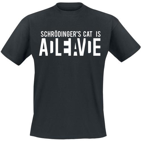 Schrödinger's Cat Is Alive Herren-T-Shirt - schwarz