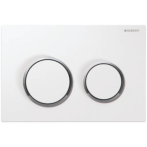 Geberit Kappa21 Betätigungsplatte für 2-Mengen-Spülung Platte=weiß / Ring=glanz / Drücker=weiß 115240KJ1