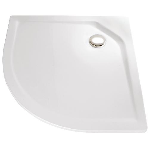HSK Acryl Viertelkreis-Duschwanne super-flach 90 x 90 x 3,5 cm, ohne Schürze 505090-A-weiss