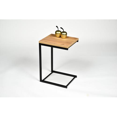 PRO Line Beistelltisch, mit Metallgestell braun Beistelltische Tische Beistelltisch