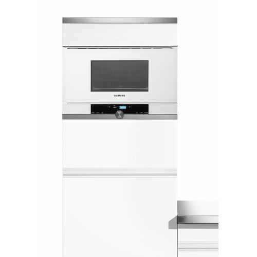 SIEMENS Einbau-Mikrowelle BF634LG, Mikrowelle, 900 W, iQ700 weiß Mikrowelle SOFORT LIEFERBARE Haushaltsgeräte