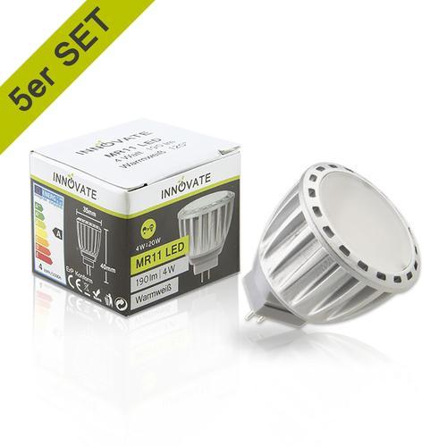 INNOVATE MR11 LED-Leuchtmittel im 5er-Pack A weiß LED Leuchtmittel Lampen Leuchten EEK