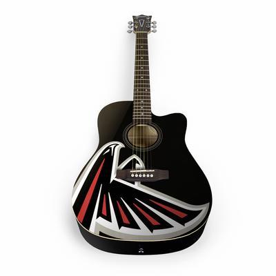Atlanta Falcons Woodrow Acoustic Guitar