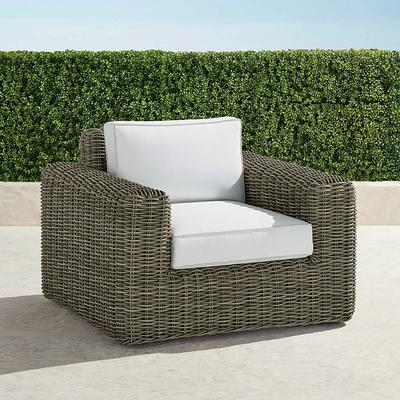Vista Lounge Chair with Cushions - Brick, Solid, Special Order - Frontgate