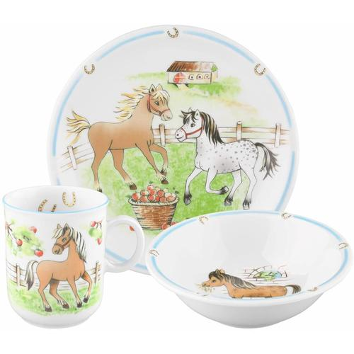 Seltmann Weiden Kindergeschirr-Set Compact Mein Pony, (Set, 3 tlg.), Made in Germany bunt Kinder Kindergeschirr Geschirr, Porzellan Tischaccessoires Haushaltswaren
