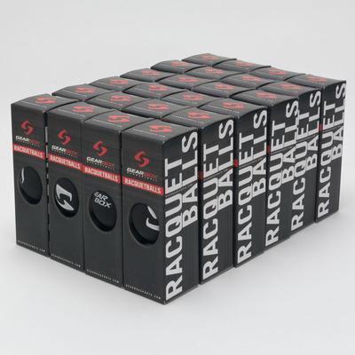 Gearbox Racquetballs 24 box Sleek Black Racquetball Balls