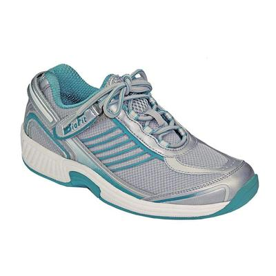 Orthopedic Walking Sneakers, Premium Arch Support, No Lace, Heel Strap, Women's Sneakers | OrthoFeet Shoes, Verve, 7.5 / Medium / Turquoise