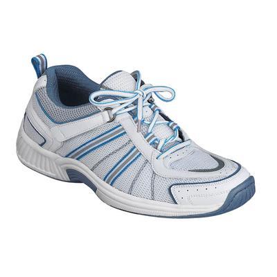 Podiatrist Recommended Walking and Standing Sneakers, Women's Sneakers | OrthoFeet Orthopedic Footwear, Tahoe, 5.5 / Medium / White