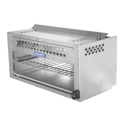 """Turbo Air TACM-36 36"""" Gas Cheese Melter w/ Infrared Burner, Stainless, Natural Gas"""