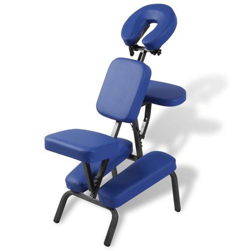 vidaXL Faltbarer & Tragbarer Massagestuhl Blau
