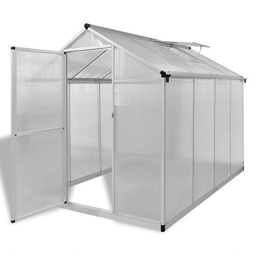 vidaXL Verstärktes Gewächshaus Aluminium 4,6 m²