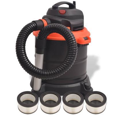 vidaXL Aschesauger 1200 W 20 l mit 4 Filtern Schwarz und Orange