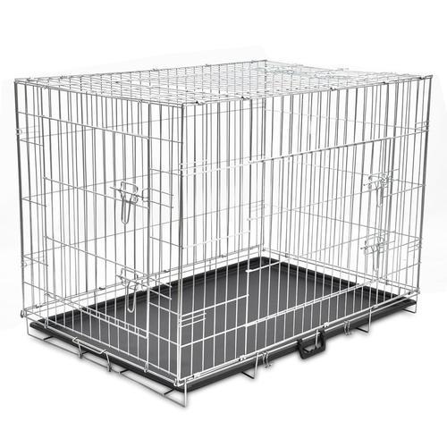 vidaXL Faltbare Hundebox Metall XL