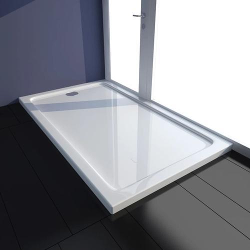 vidaXL Duschtasse ABS Rechteckig Weiß 70×120 cm