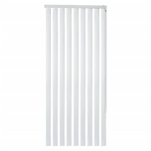 vidaXL Lamellenvorhang Weiß PVC 180×250 cm