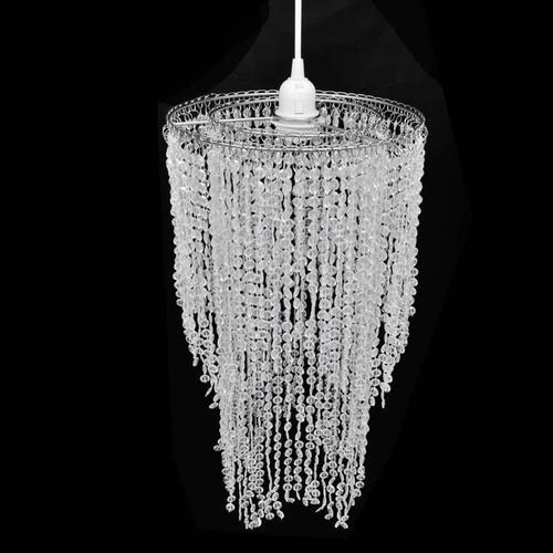 vidaXL Kristall Anhänger Kronlampe 26,5 x 50 cm