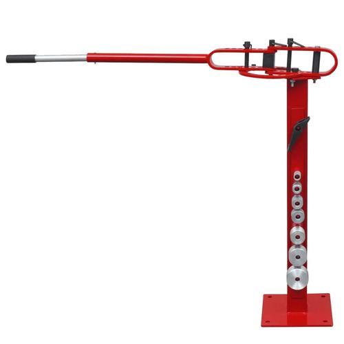 vidaXL Stahlrohrbiegemaschine mit Bodenbefestigung manuelle Bedienung
