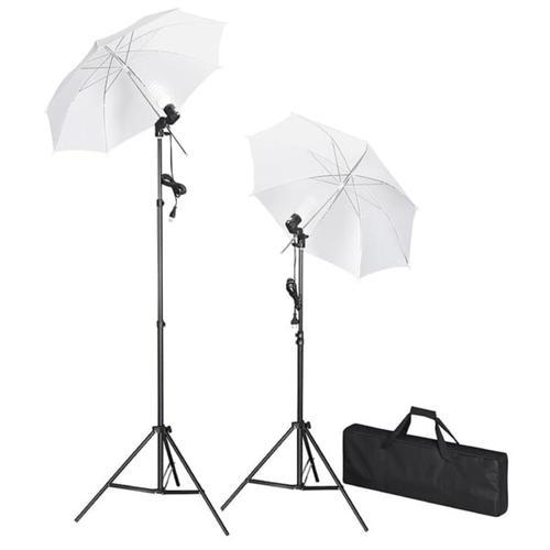 vidaXL Studiobeleuchtung-Set mit Stative & Schirme