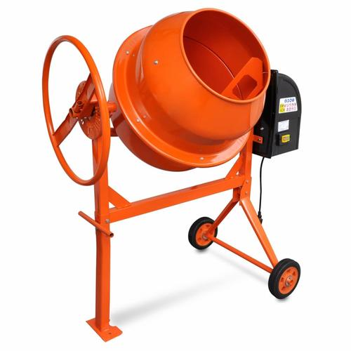 vidaXL Betonmischer Zementmischmaschine 140 L 650 W Stahl Orange