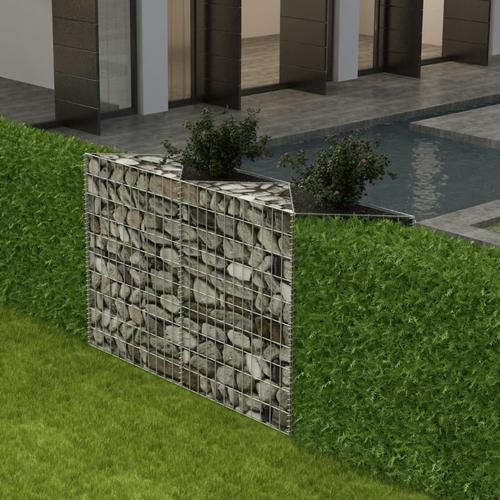 vidaXL Gabionenkorb Pflanzkasten Gemüse-Hochbeet Stahl 120×30×100 cm