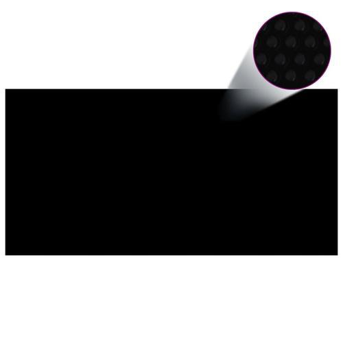 vidaXL Treibende Pool Solarfolie rechtecking 10 x 5m Pools, schwarz