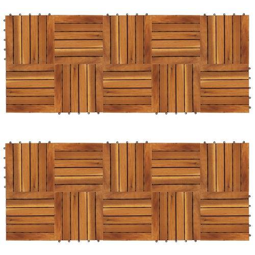 vidaXL Terrassenfliesen 20er Set Vertikales Muster 30 x 30 cm Akazie