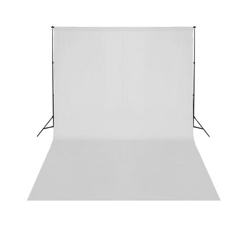 vidaXL Teleskopischer Hintergrund-System + Weißer Hintergrund 3 x 5 m