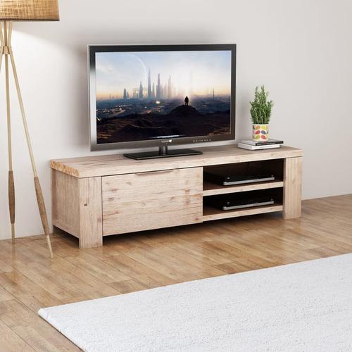 vidaXL TV Schrank Gehobeltes Akazienholz 140 x 38 x 40 cm