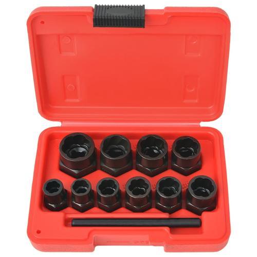 vidaXL 11tlg. Schraubenausdreher-Set für beschädigte Schrauben/Muttern