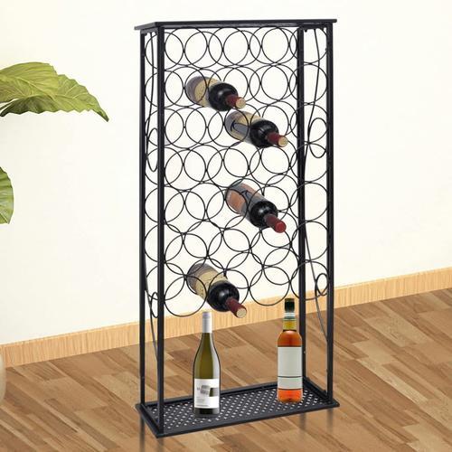vidaXL Flaschenregal für 28 Flaschen Metall