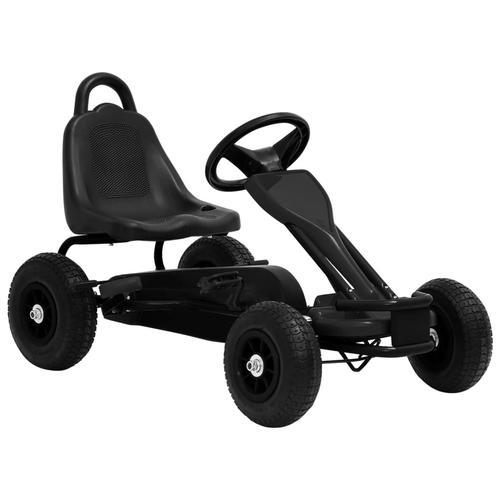 vidaXL Pedal Go-Kart mit Luftreifen Schwarz