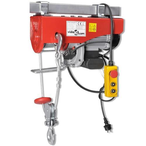 vidaXL Elektrischer Seilhebezug 1300 W 500/999 kg