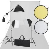 vidaXL Fotostudio-Set Weiß und S...