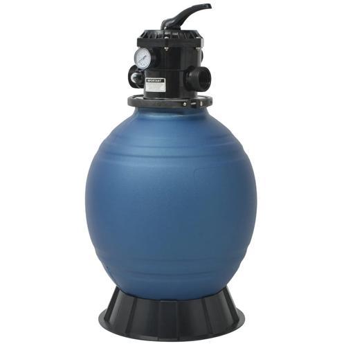 vidaXL Pool-Sandfilter mit 6-Wege-Ventil Filterkessel Blau 460 mm