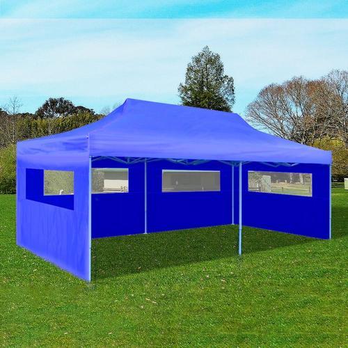 vidaXL Pop-Up-Partyzelt Faltbar Blau 3×6 m