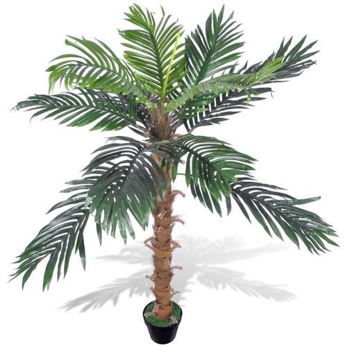 vidaXL Künstliche Kokospalme mit Topf 140 cm