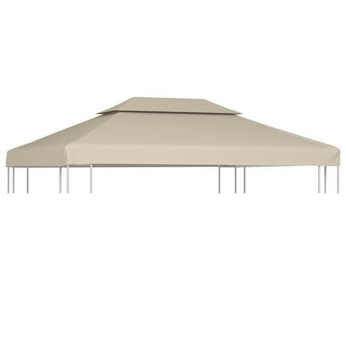 vidaXL Pavillon-Dachplane Ersatzdach 310 g/m² Beige 3×4 m