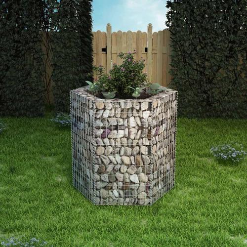 vidaXL Sechseckiges Gabionen-Hochbeet 100×90×100 cm