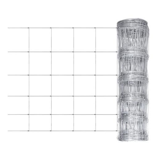 vidaXL Gartenzaun Verzinkter Stahl 50 m 80 cm