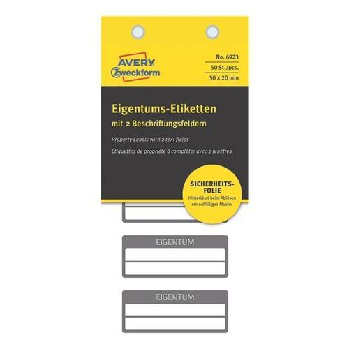 50er-Pack Eigentums-Etiketten »No. 6923«, Avery Zweckform