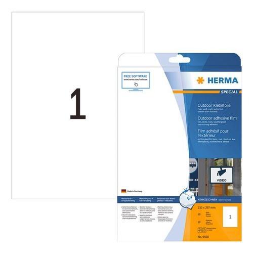 Outdoor Folien-Etiketten »9500« weiß, Herma