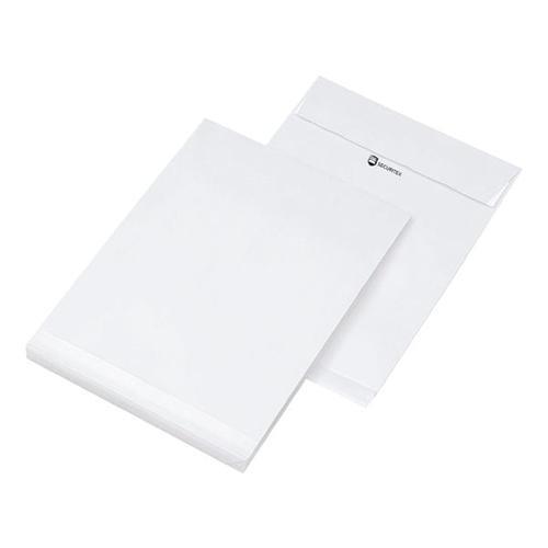25 Versandtaschen C4 ohne Fenster mit Seitenfalte weiß, Mailmedia, 32.4x22.9 cm