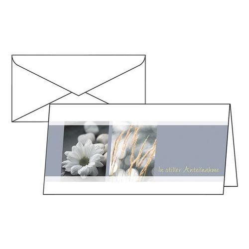 Trauer-Karten »Anteilnahme« DS208, Sigel, 22x11 cm