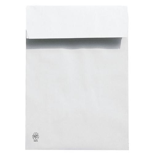 Polsterfaltentaschen E4, mit Spitzboden weiß, Steinmetz, 28x40 cm