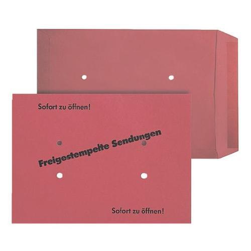 Freistempler-Taschen - 100 Stück rot, Mailmedia, 35.3x25 cm