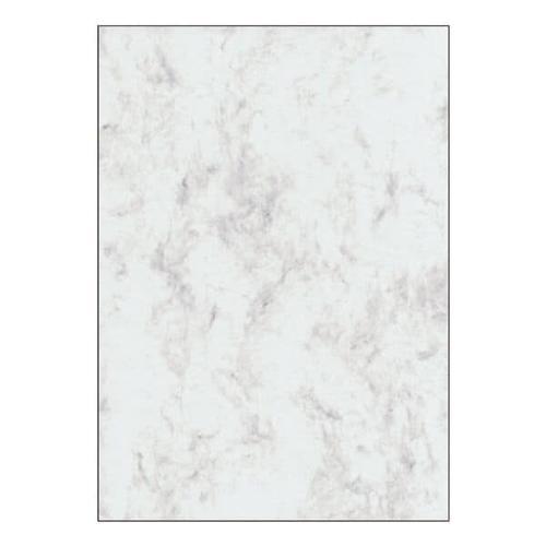 Marmorpapier - 50 Blatt - 200g/m² grau, Sigel, 21x29.7 cm