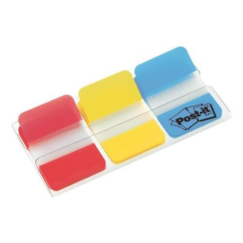 Haftstreifen »Index Strong« 38 x 25,4 mm, rot/gelb/blau rot, Post-it Index, 3.8x2.54 cm