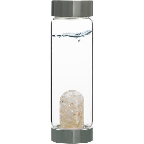 VitaJuwel Wasserkaraffe Edelsteinflasche ViA Luna, (Labradorith - Bergkristall) farblos Karaffen Gläser Glaswaren Haushaltswaren