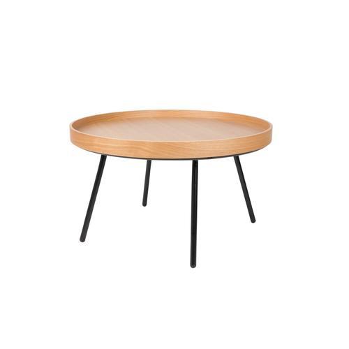 Zuiver Couch-/Beistelltisch Oak Trey Couchtisch / H 45 cm, Ø 78 cm