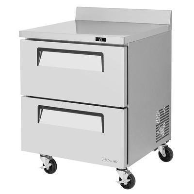 "Turbo Air TWR-28SD-D2-N 27 1/2"" Worktop Refrigerator w/ (1) Section, 115v"